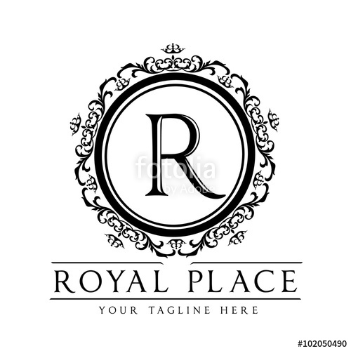 500x500 Royal Place,r Letter Logo,vector Logo Template Stock Image And