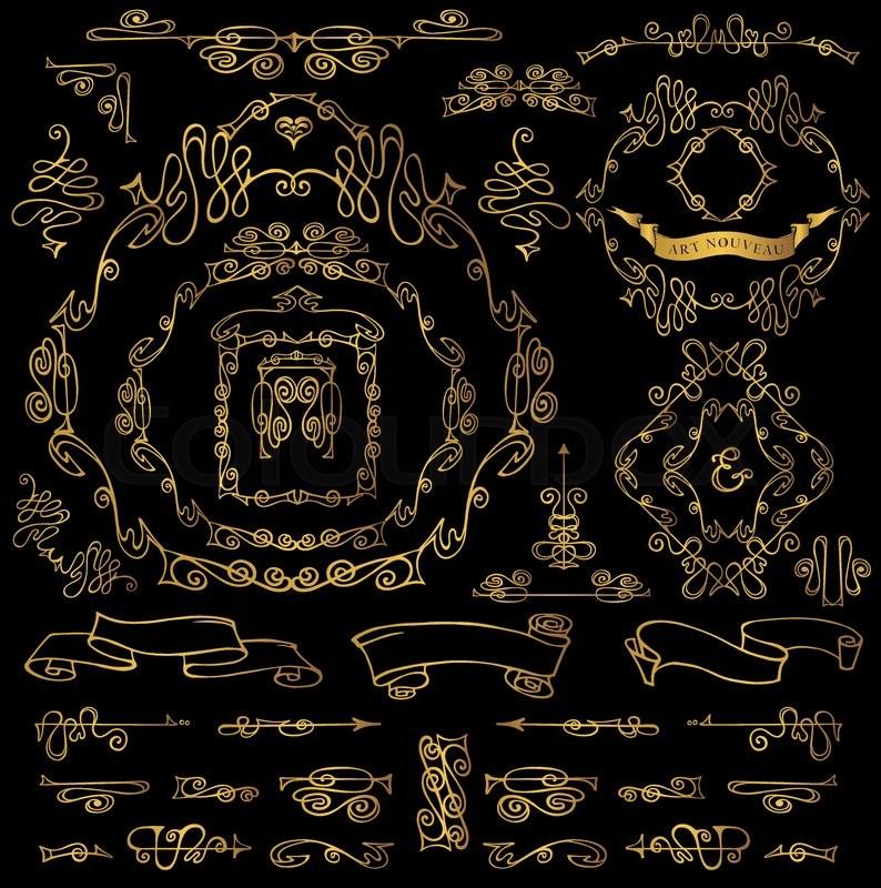 794x800 Royal Vector Design Elements.calligraphic Curves Gold Frames