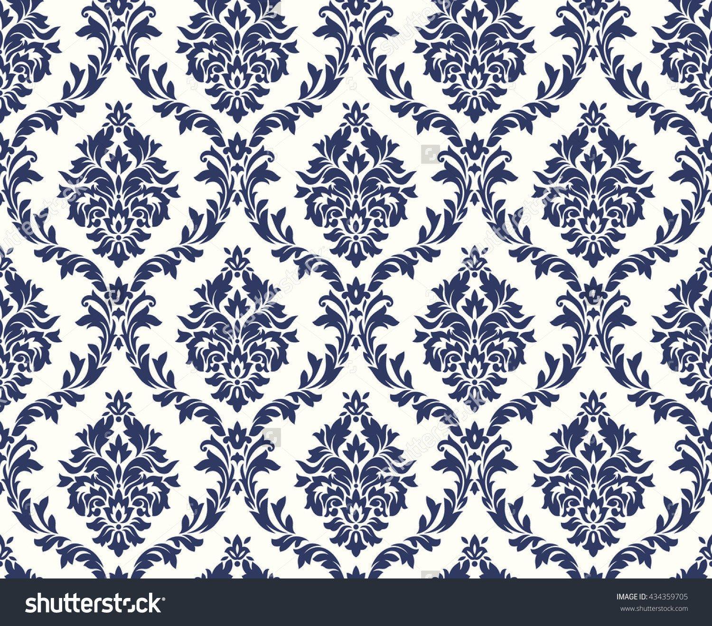 1500x1317 Royal Vector Floral Damask Pattern Print Photography Backdrop