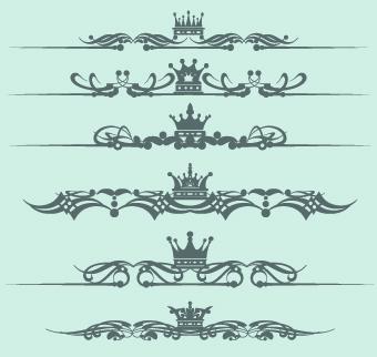340x322 Royal Crown Decor Vector 05 Free Download