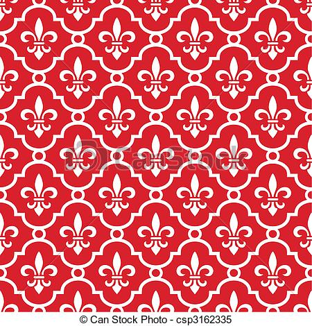 450x470 Royal Red Background. Retro Royal Vector Background With Fleur De