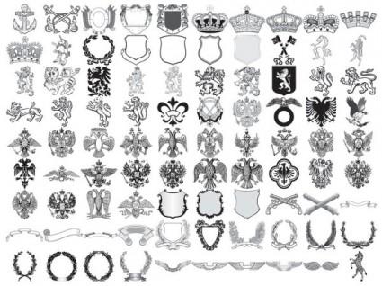 425x318 90 European Royal Element Vector Decoration