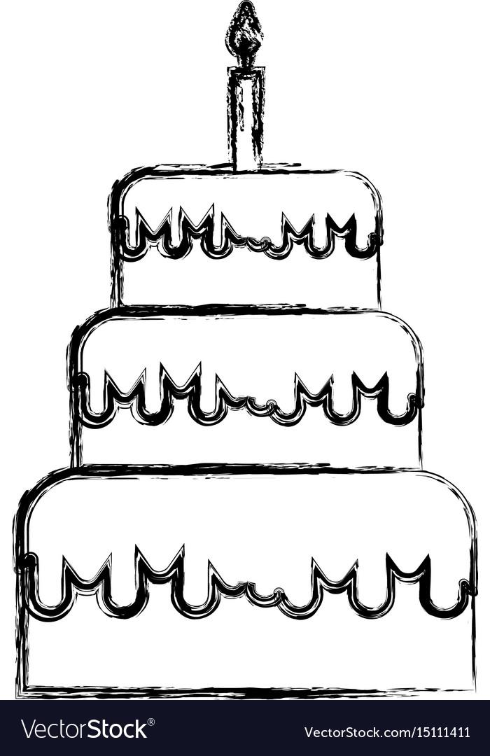 700x1080 Birthday Cake Sketch Sketch Draw Birthday Cake Cartoon Royalty