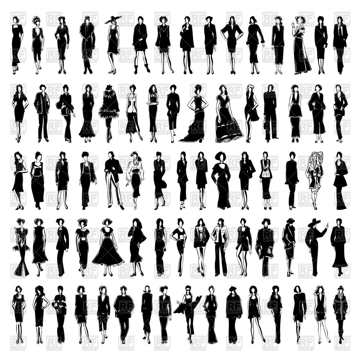 1200x1200 Fasion Models Vector Image Vector Artwork Of People