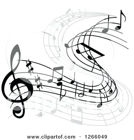 450x470 Musical Note Design Of A Flowing Music Note Design Royalty Free