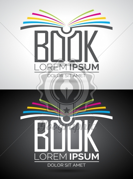 439x590 Vector Book Logo Illustration. Icon Template For Education Or
