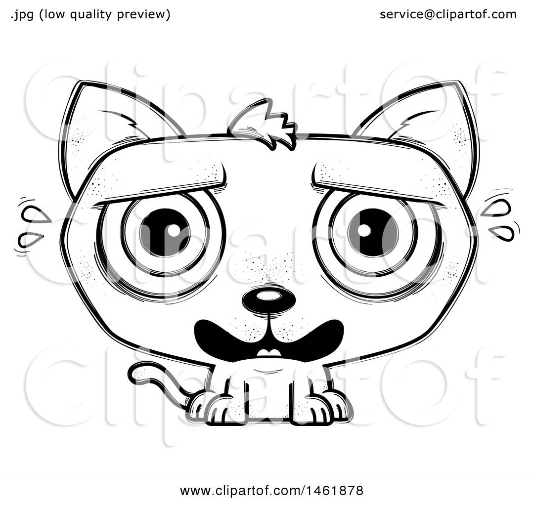 1080x1024 Clipart Of An Evil Siamese Cat By Vector Tradition Sm 3846