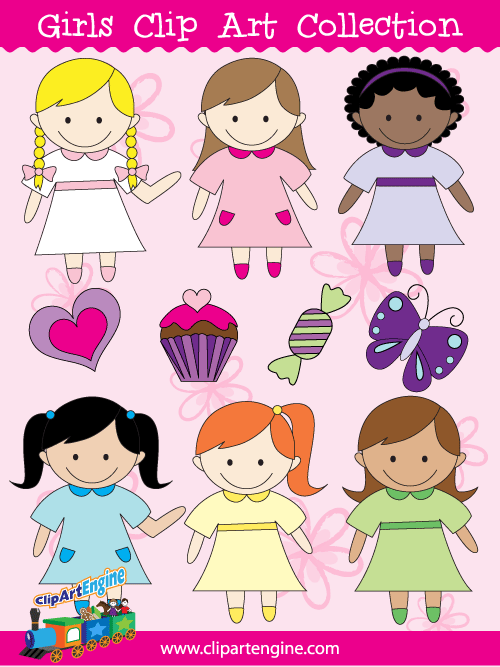 500x667 Girls Clip Art Collection For Personal And Commercial Use