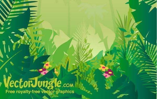 600x380 Free Vectors Free Vector Jungle Background
