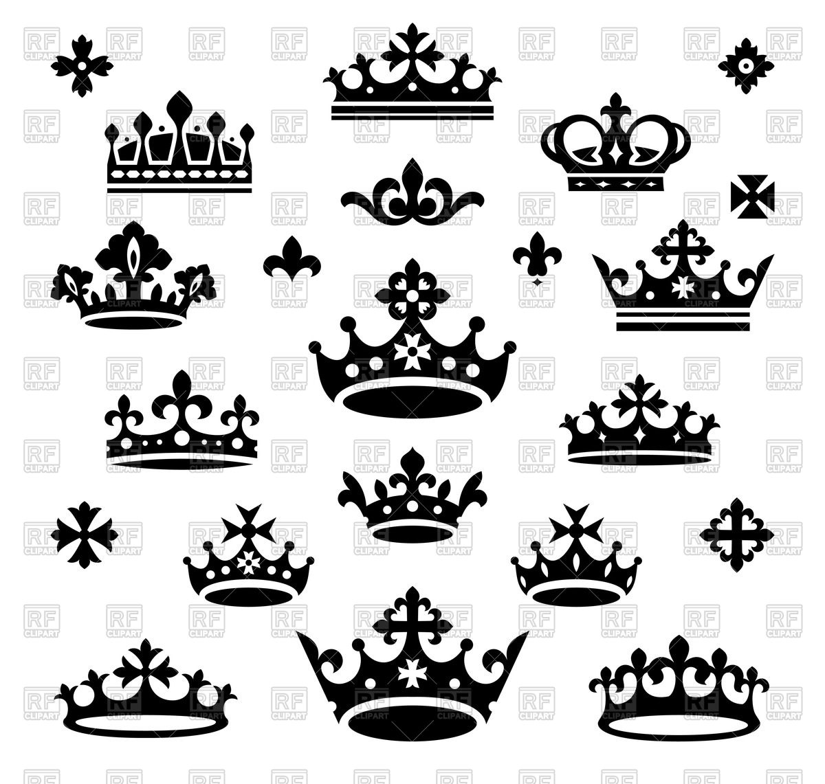 1200x1141 Silhouettes Of Queen And Royal Crown Vector Image Vector Artwork