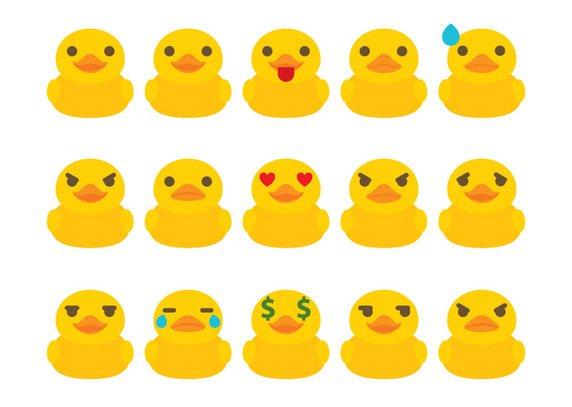 572x407 Rubber Duck Emoticon Vector Free Vector Download In .ai, .eps
