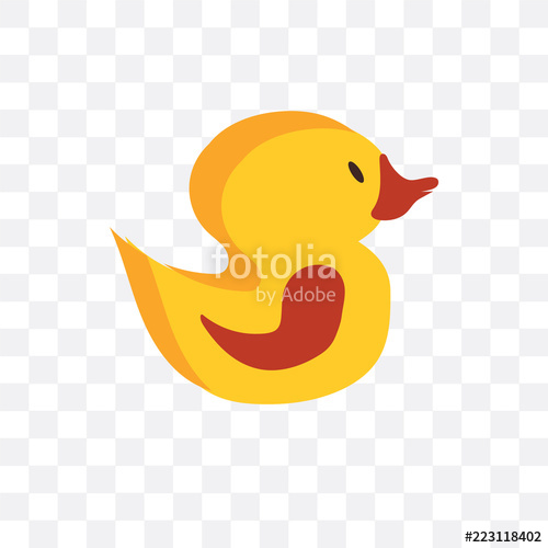 500x500 Rubber Duck Vector Icon Isolated On Transparent Background, Rubber
