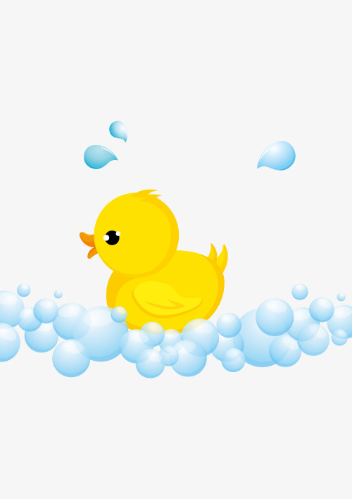 500x708 Small Yellow Duck Vector, Duck Vector, Duck Clipart, Bathe Png And