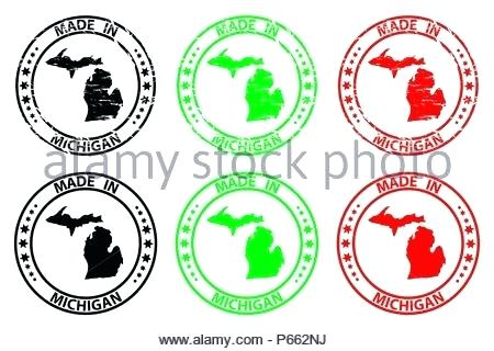 450x320 Made In Michigan Rubber Stamp Vector United States Of 12s Flight