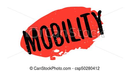 450x246 Mobility Rubber Stamp. Grunge Design With Dust Scratches