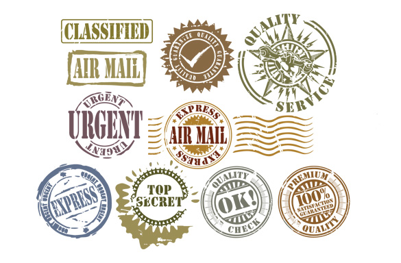 585x384 7 Free Rubber Stamp Vector Packs