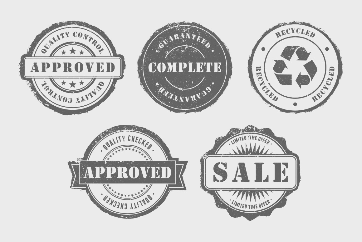 1160x774 Rubber Stamps Vector Pack Volume 1 Design Panoply