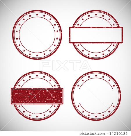 450x468 Set Of Red Grunge Rubber Stamp,vector Illustration.