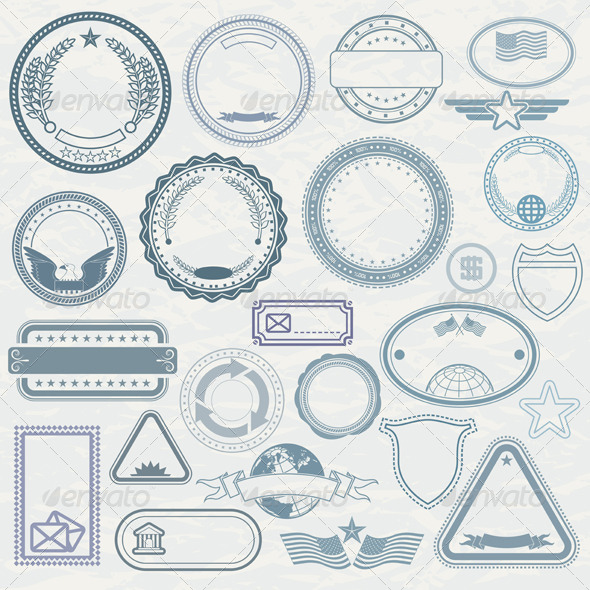 590x590 Templates Of Rubber Stamps. Vector Pack By Pilart Graphicriver