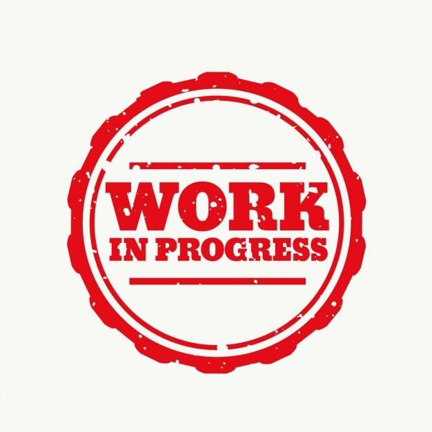 626x626 Work In Progress, Rubber Stamp Vector Free Download