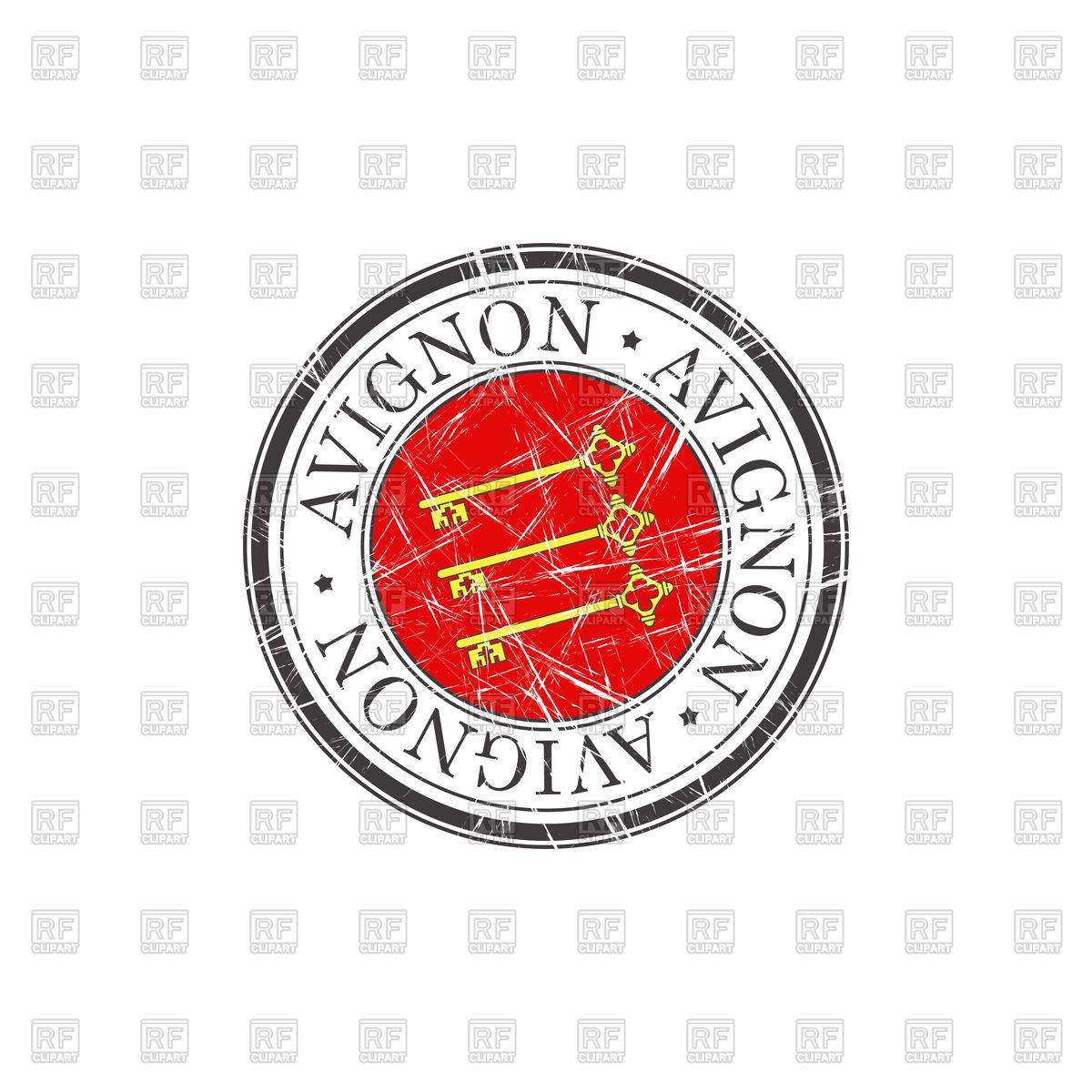 1200x1200 Avignon City Grunge Rubber Stamp Vector Image Vector Artwork Of