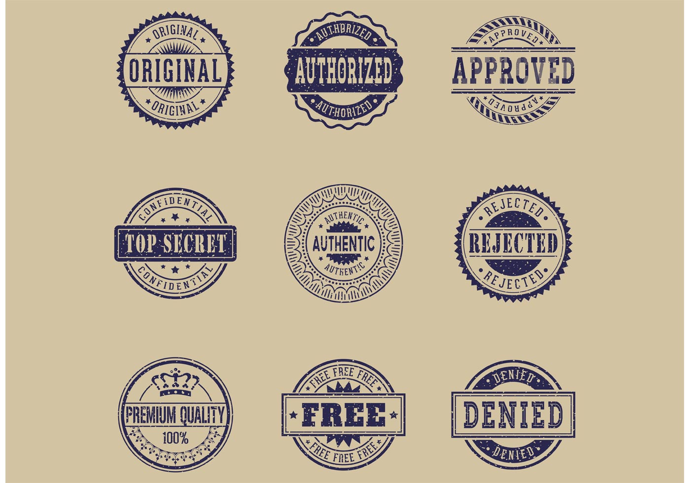 1400x980 Free Commercial Grunge Rubber Stamps Vector