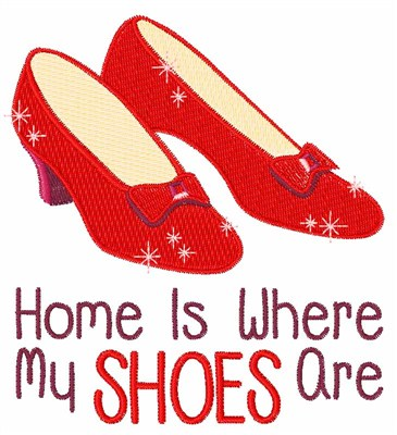 365x400 Ruby Slippers Vector Medium Embroidery Design Clipart
