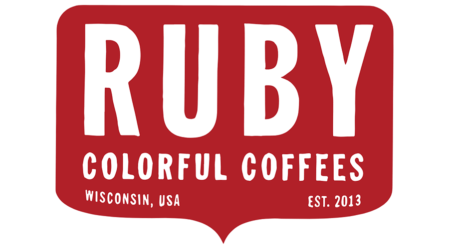 900x500 Ruby Colorful Coffees Logo Vector