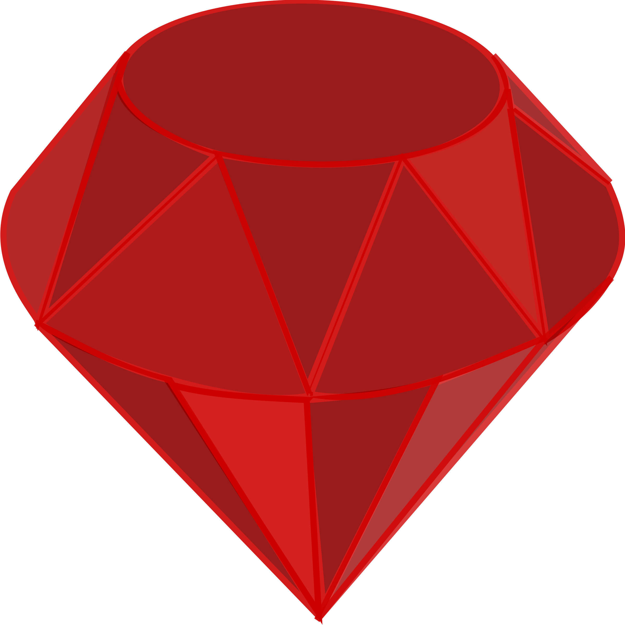 2397x2400 Ruby Gemstone Vector Clipart Image