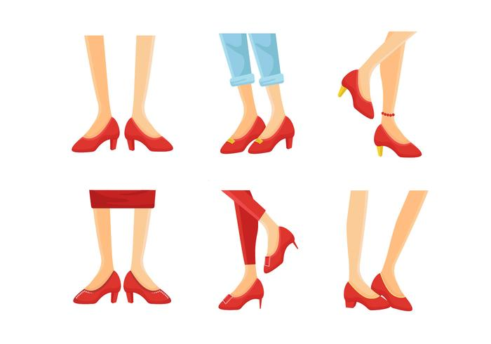 700x490 Ruby Slippers Collection Vector Illustration