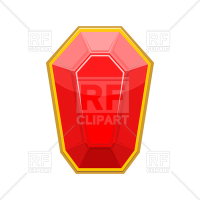 400x400 Ruby Gemstone Vector Image Vector Artwork Of Objects