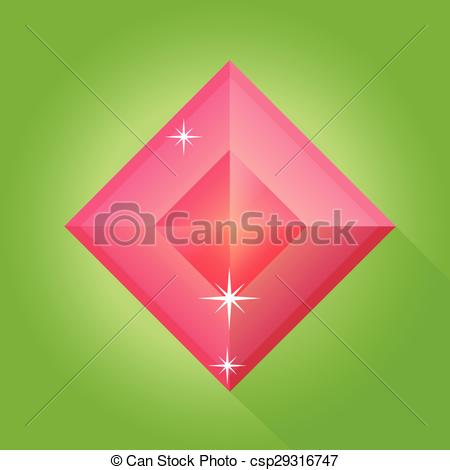 450x470 Ruby Vector In Green Background, Ruby Vector.