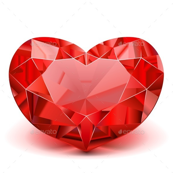 590x590 Vector Ruby Heart By Dashadima Graphicriver