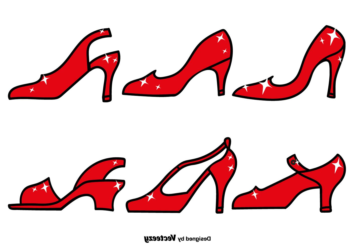 1400x980 Best Ruby Slippers Icon Set Vector Design