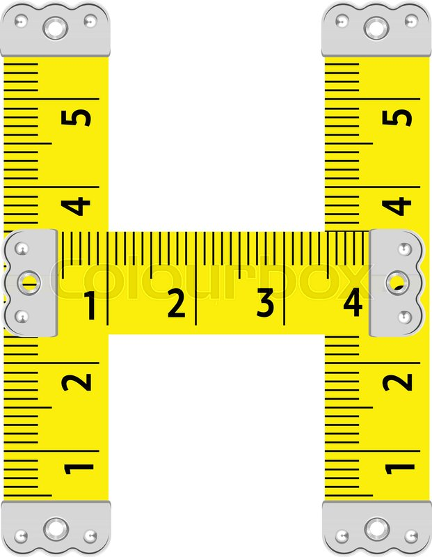 621x800 Letter H Ruler Icon. Cartoon Illustration Of Letter H Ruler Vector