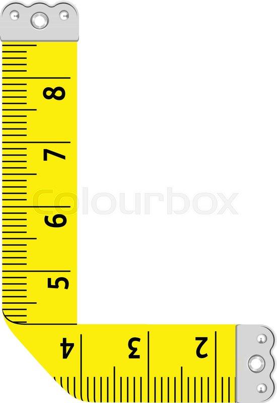 550x800 Letter L Ruler Icon. Cartoon Illustration Of Letter L Ruler Vector