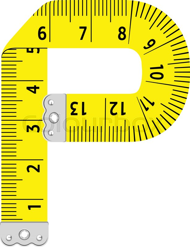 615x800 Letter P Ruler Icon. Cartoon Illustration Of Letter P Ruler Vector