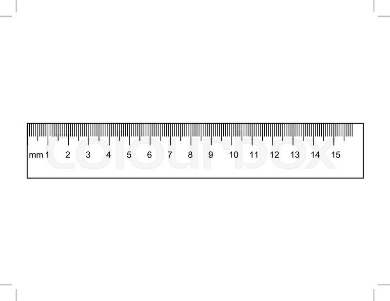 800x617 Outline Illustration Of Ruler, Instrument Of Measurement Stock
