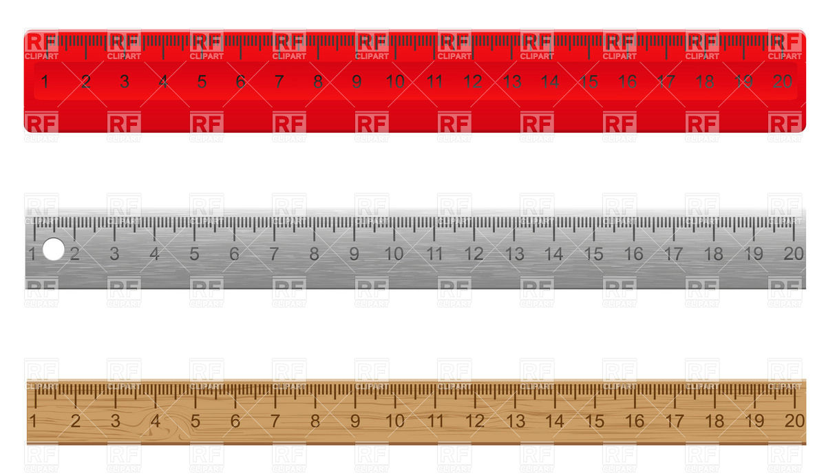 1200x692 Plastic, Wooden And Metal Rulers Vector Image Vector Artwork Of