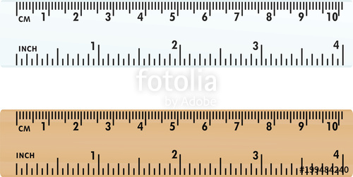 500x251 Plastic And Wooden Ruler. Vector Illustration Stock Image And