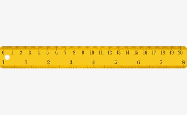 650x400 Yellow Ruler Measuring Element, Ruler Vector, Measurement Vector