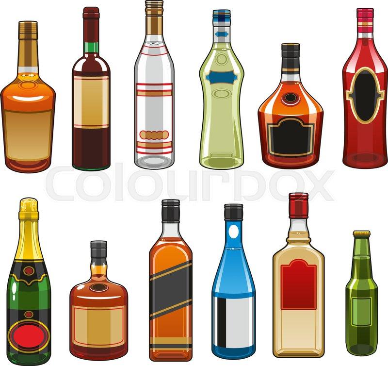 Rum Bottle Vector