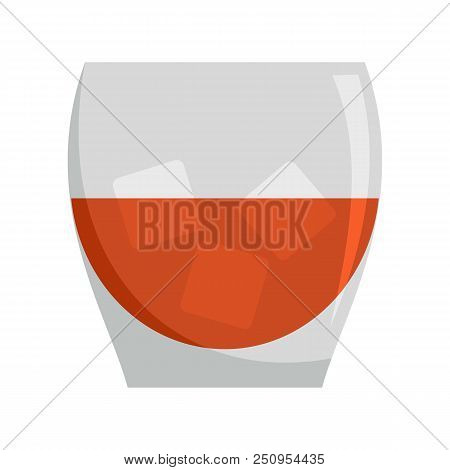 450x470 Glass Of Rum Icon. Flat Illustration Of Glass Of Rum Vector Icon