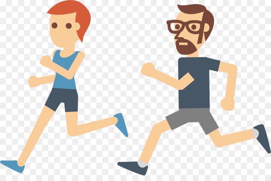 900x600 Physical Exercise Running Euclidean Vector Icon