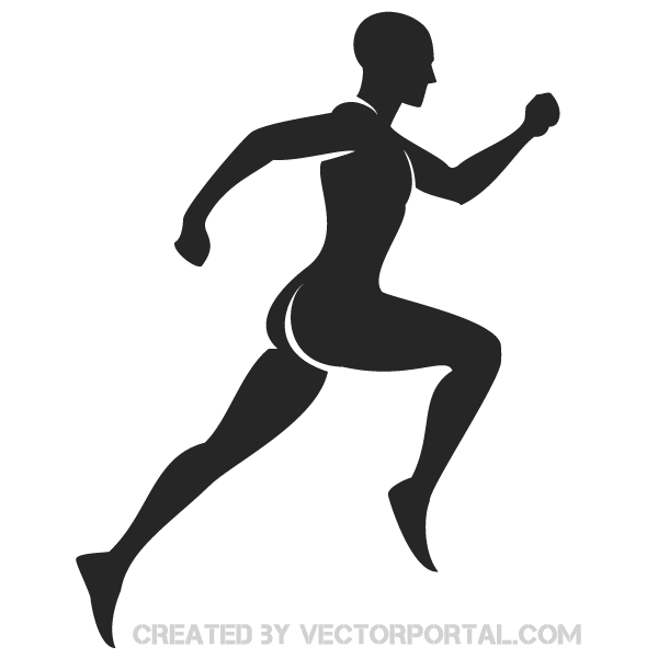 600x600 Runners Silhouette Vector Free 123freevectors