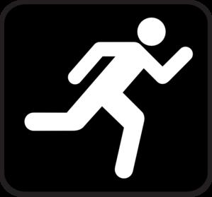 299x279 Running Icon Clip Art