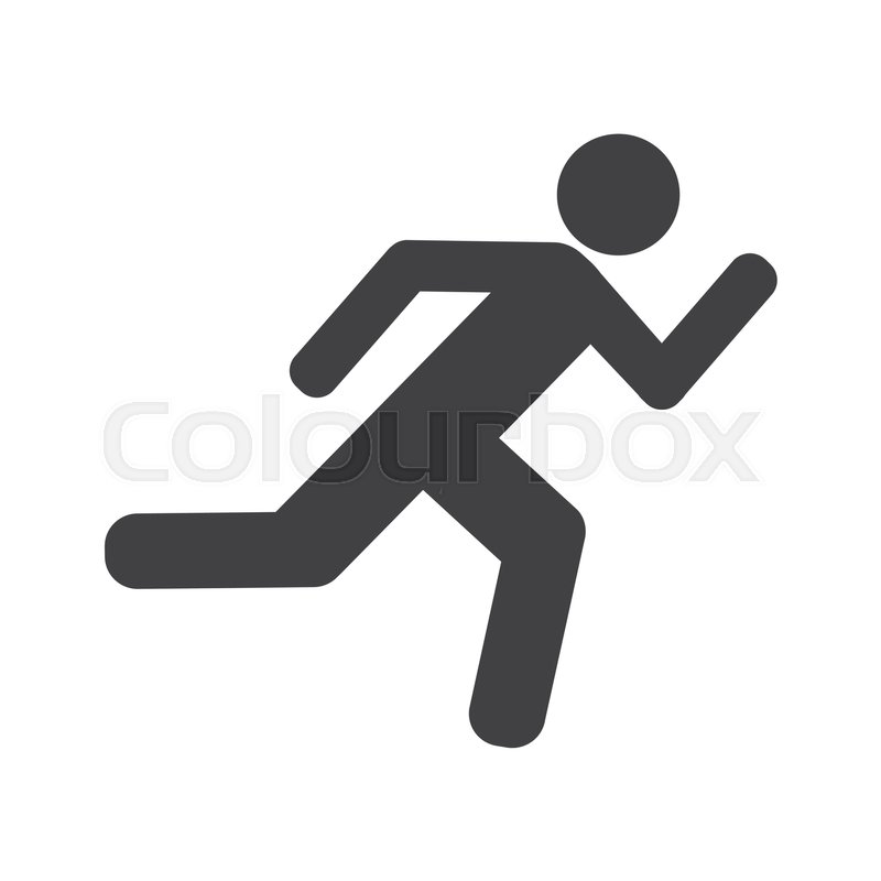 800x800 Athlete Running Silhouette Isolated Icon Vector Illustration