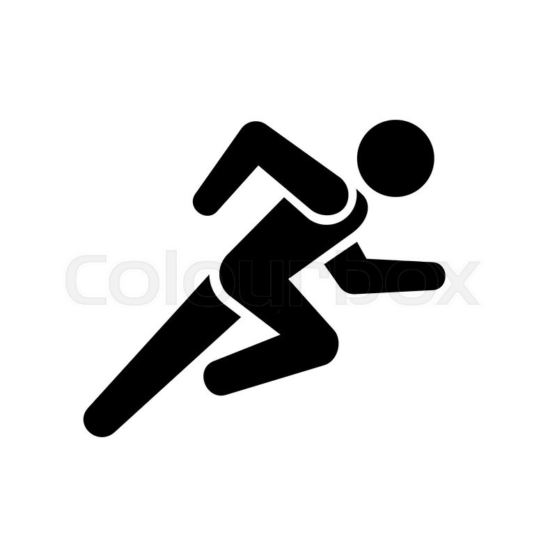 800x800 Running Man Icon On White Background. Vector Illustration Stock