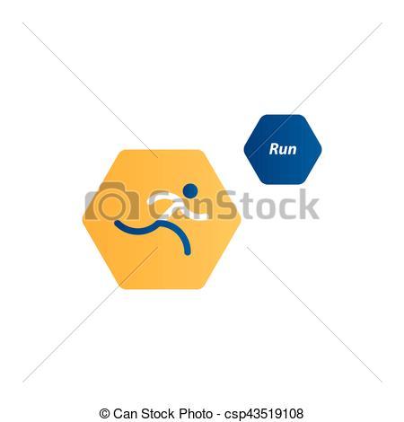450x470 Running Logo, Sport Event Icon. Running Marathon Identity, Runner