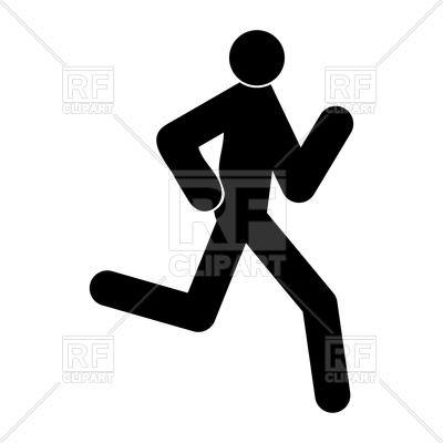 400x400 Running Man Black Color Icon Vector Image Vector Artwork Of